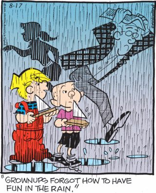 Enjoy the simple things - Dennis the Menace Comic