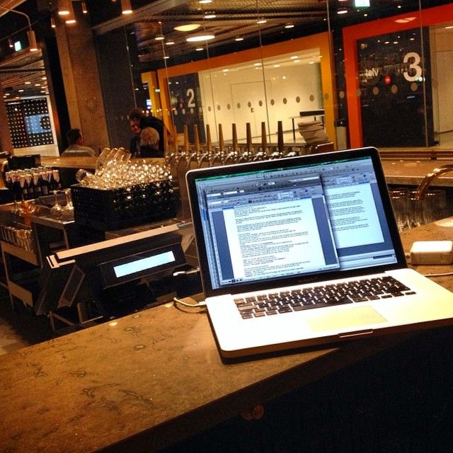 #MyOffice - I always bring the computer and takes care of spare time. Here in beautiful #RestaurangPrintz in #Stockholm. #TrySwedish