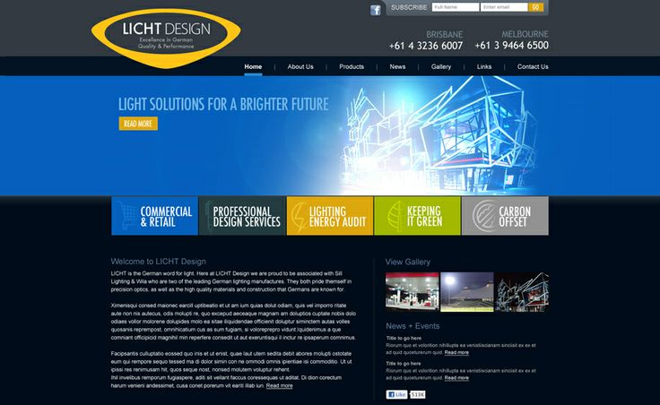 Website design for Licht Design. #websitedesign #webdesign #web #design #graphicdesign #website #websites