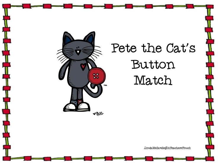 Pete the Cat Button Match (Smartboard edition-free!!)
