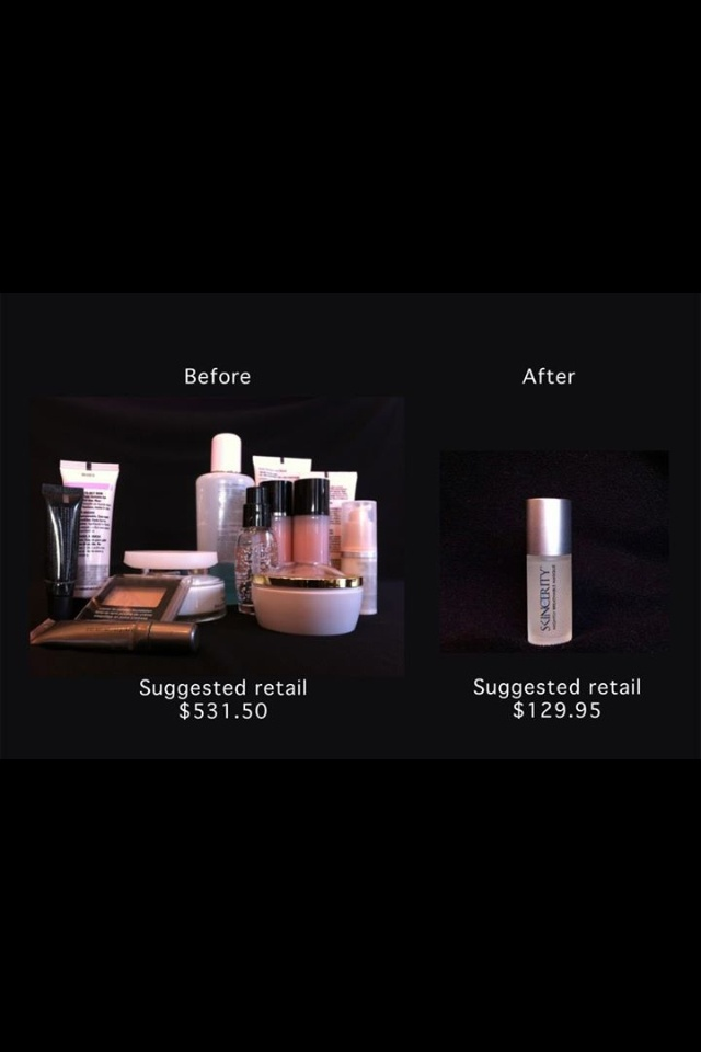One bottle of Skincerity can do more for you than 6 bottles of the competitors brand!!
