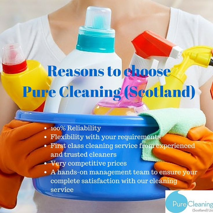 Reasons to choose Pure Cleaning (Scotland) as your cleaning company