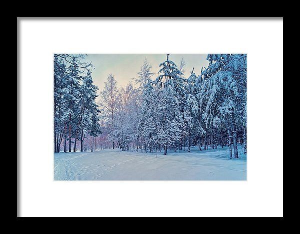 Winter Twilight Framed Print by Marfffa Art.  All framed prints are professionally printed, framed, assembled, and shipped within 3 - 4 business days and delivered ready-to-hang on your wall. Choose from multiple print sizes and hundreds of frame and mat options.