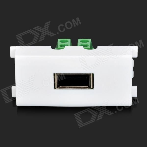 usb female wall panel socket white green multicolored color white green