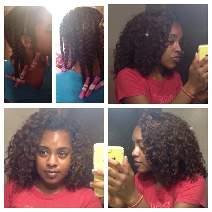 Braid out on relaxed hair using cantu Shea butter leave in conditioner and argon oil!