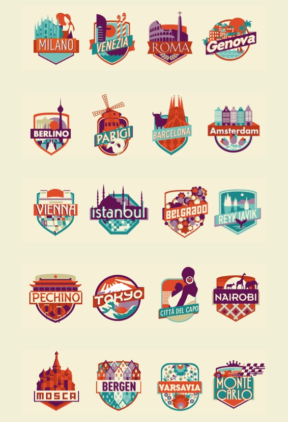 City icons by Federica Bonfanti