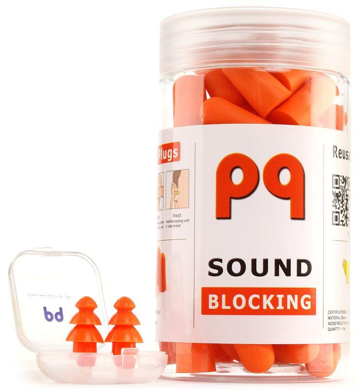 PQ Soft Earplugs for Sleep - Sound Blocking - 35 Pairs & 1 Bonus Pair of Reusable Earplugs