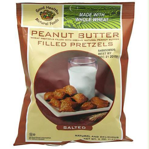 Good Health Peanut Butter Filled Petzels Salted Peanut Butter Petzels