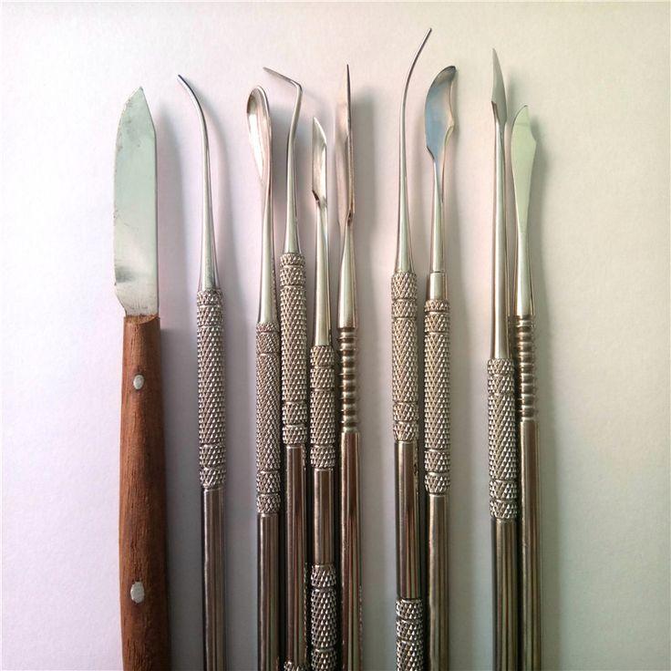 AT0229 Qualität Dental Laborgeräte Wachs Schnitzwerkzeuge Set Chirurgische Zahnarzt Skulptur Messer Instrumente Werkzeug Kit1Set (10 Stücke)