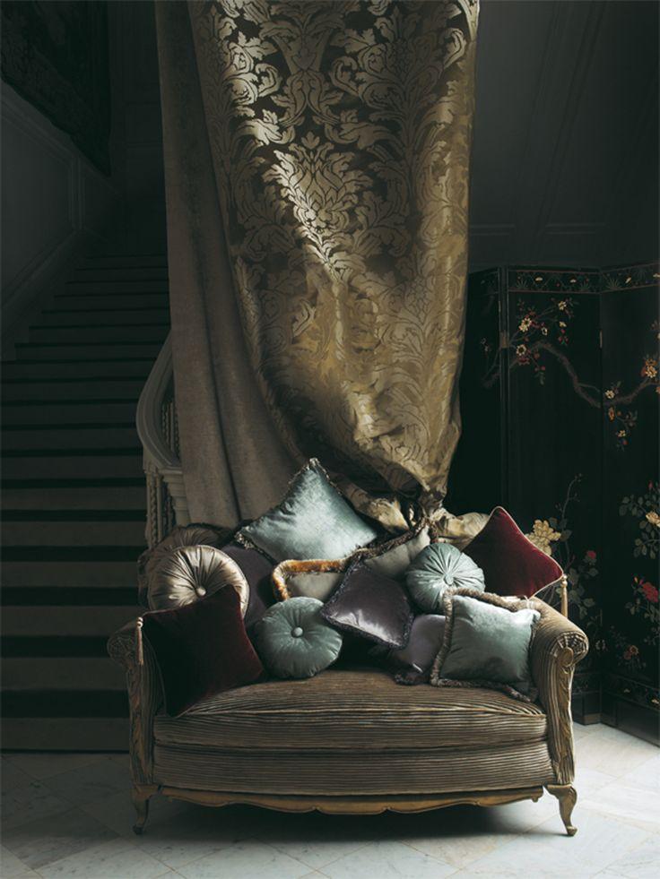 Beautiful velvets, satins and silks