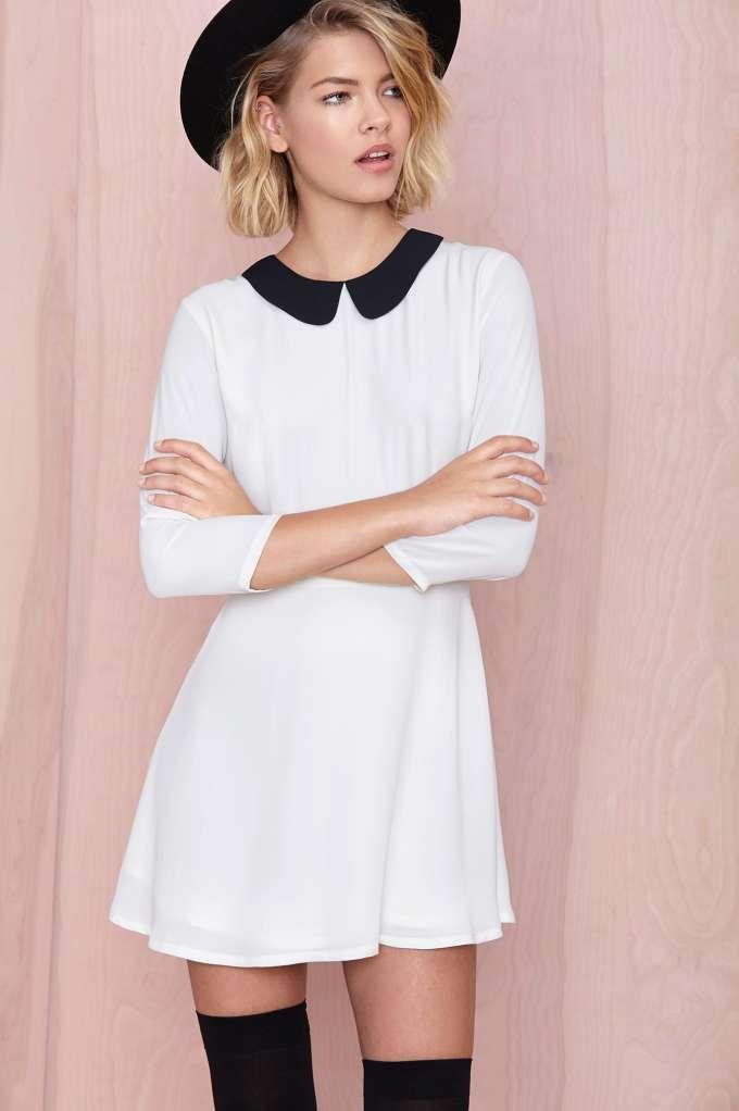 Nasty Gal Wendy Dress - White