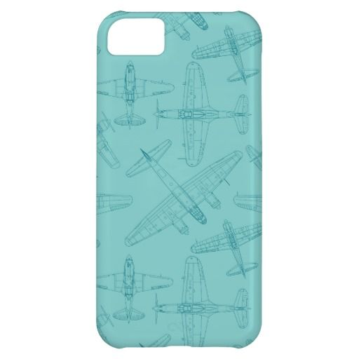 Vintage planes pattern iPhone 5C covers