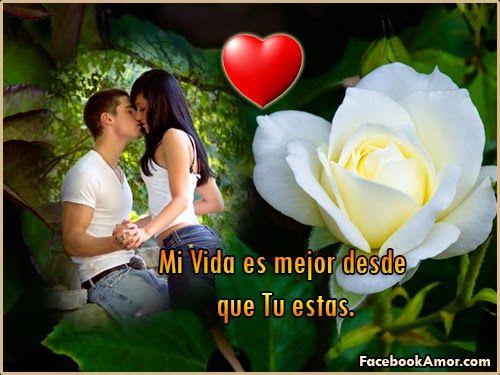 Imagenes de rosa rojas con frase de amor - Imágenes Bonitas para Facebook Amor y Amistad