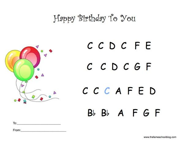 Happy Birthday Happy Birthday Piano Piano Music With Letters Piano Sheet Music Letters