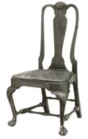 Fiddle Back Queen Anne chair