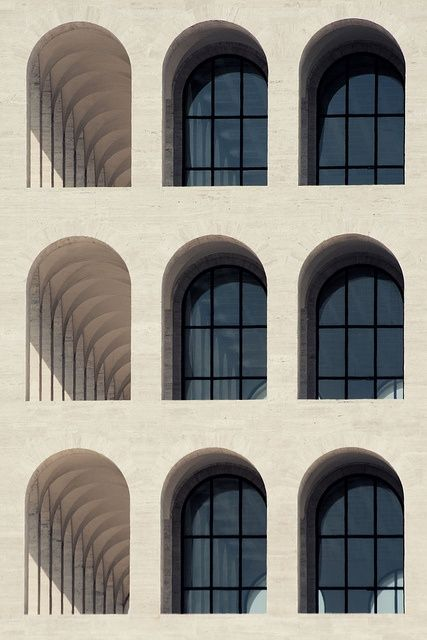 Palazzo della Civiltà Italiana, Rome, 1943 - the home of Fendi Headquarters