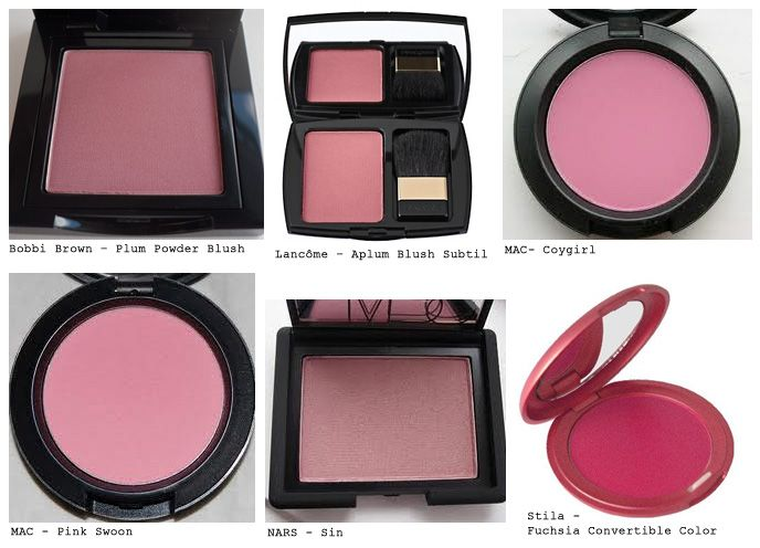 True Winter Blushes - labeled