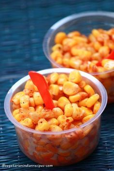 masala corn - tasty, easy to make guilt free snack masala corn is an Indian street food where cooked corn is mixed with few spices to make this tasty snack #indianfood #food #recipes #vegetarian #snack