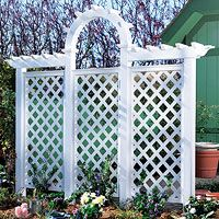 Free arched trellis woodworking plan. I really want this!!!!