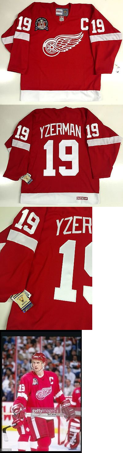 Hockey-NHL 24510: Steve Yzerman 1997 Stanley Cup Ccm Vintage Red Detroit Red Wings Jersey New -> BUY IT NOW ONLY: $179.99 on eBay!