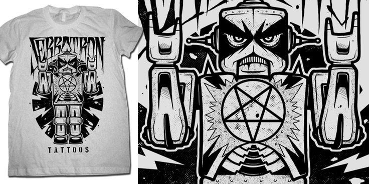 """Sebbotron Tattoos"" t-shirt design by drop"