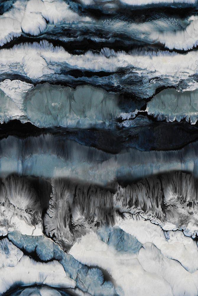 Petrol blue, grey & white - atmospheric & arty, abstract surface pattern design inspiration // Seetal Solanki