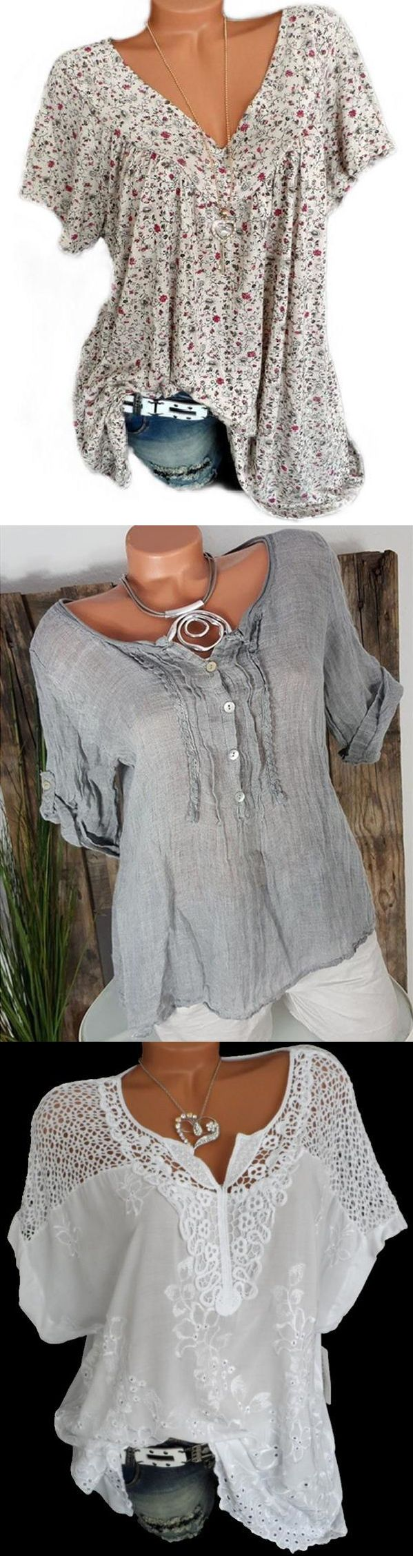 Shop Now>>>Hot Selling Casual Plus Size Blouse Shirts Tops collection & Free Shipping $80+!