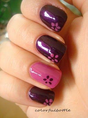 springtime flower nails - simple design
