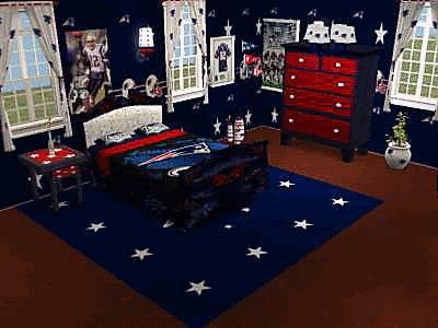 New England Patriots Bedroom  BOYS  Patriotic bedroom