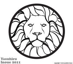 stained glass lion pattern - Google Search