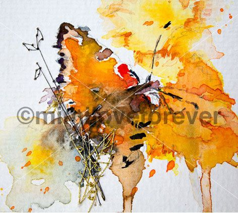 Butterfly Art. Butterfly Watercolour Painting. Hand