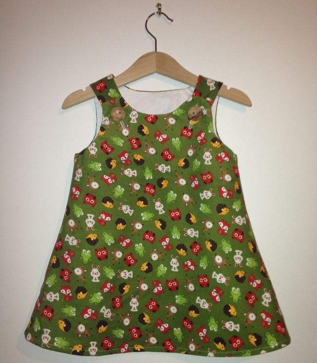 LIMITED EDITION Woodland animal needle cord dress 6 months to 4 years £30.00