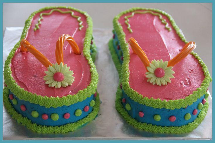 Carly's Cakes: Flip Flops cake