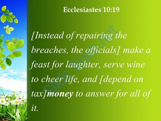 ecclesiastes 10 19 money is the answer for everything powerpoint church sermon Slide04  http://www.slideteam.net/
