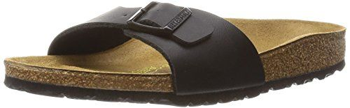 Birkenstock Women's Madrid 1-Strap Cork Footbed Sandal Black 38 M EU >>> Check out the image by visiting the link.