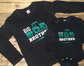 John Deere inspiré des chemises de frère, grand frère petit frère, vêtements tendance garçon, chemises de nom, meilleur ami chemises, anniversaire de tracteur
