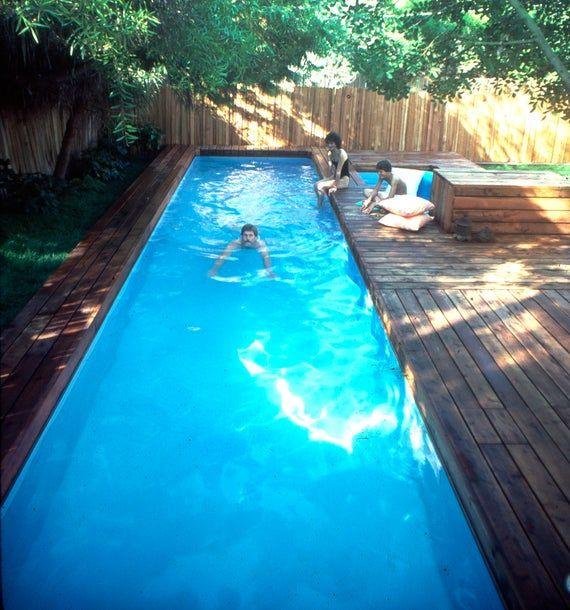 Lap Pool And Spa Plans Diy In Ground Pool Digital Plans In 2020 Diy In Ground Pool Backyard Pool Diy Swimming Pool