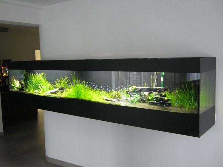 freischwebendes Süßwasseraquarium in L - Form Aquarium 339 ( 88 ) x 42 x 68