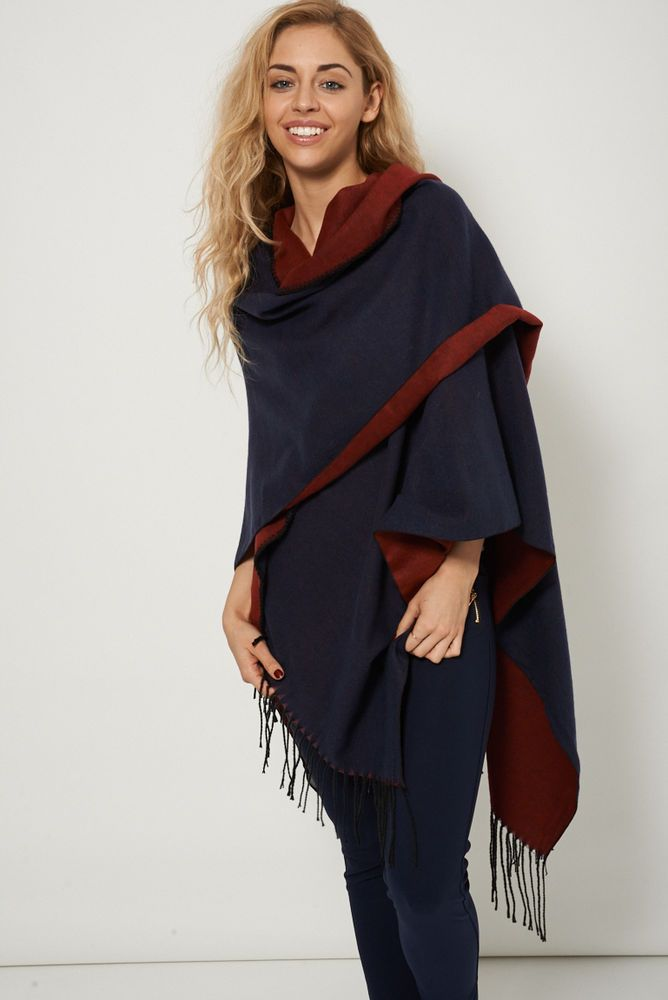 REVERSIBLE SUPER SOFT FLANNEL PONCHO This ones in the sale!!