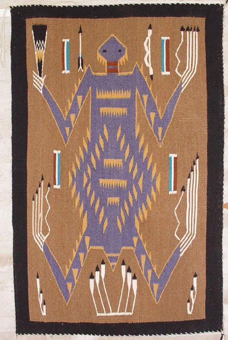 Navajo Sand Painting   Navajo Rug, Churro # 1164, Teec Nos Pos Runner,