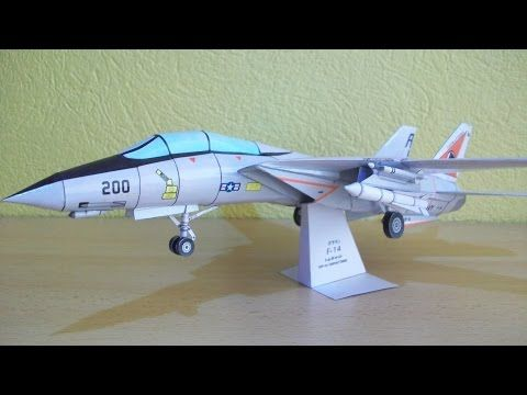 F 14 Tomcat Papercraft - YouTube