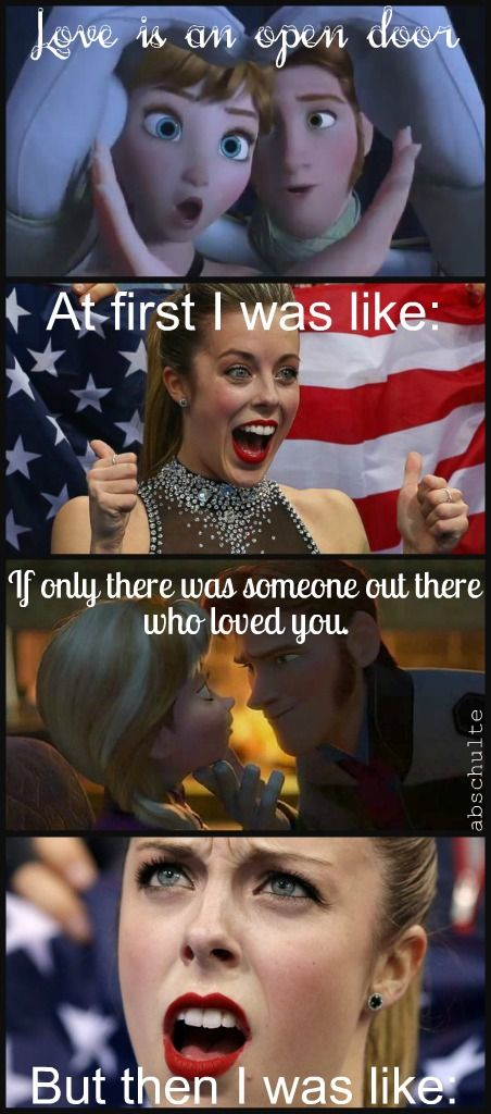 Ashley Wagner/Frozen meme! Created by yours truly :)