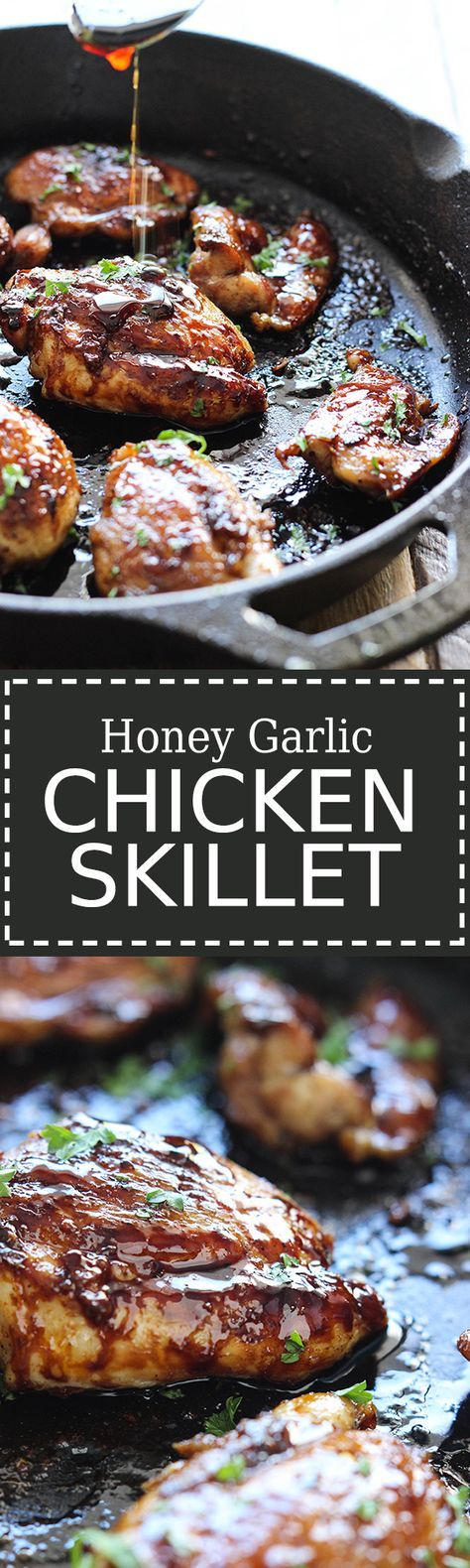 Five ingredients and 20 minutes is all it takes to enjoy this honey garlic chicken skillet. With the much loved sauce that won over kitchens everywhere.