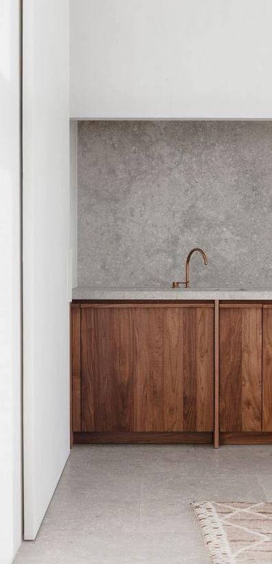 Hazelnut wood and concrete textures