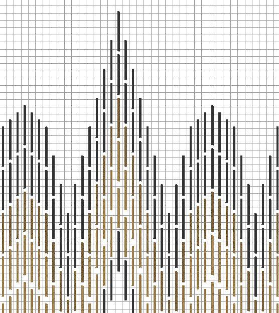 "Florentijns borduurpatroon ""kathedraal"", werktekening 2"