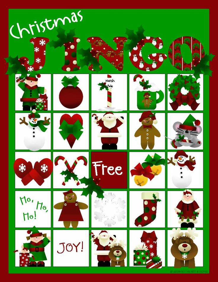 christmas bingo plus tons of other holiday games and fun