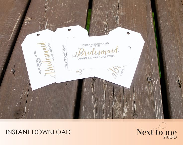 INSTANT DOWNLOAD - Will you be my bridesmaid? Tags - Wine tags - Gift tags _ wedding_ Gift _ Damask Pattern _ SKU: BMB_18 by NextToMeStudio on Etsy