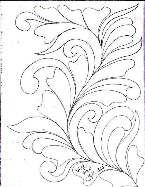 LuAnn Kessi: Quilting Sketch Book.....Vines