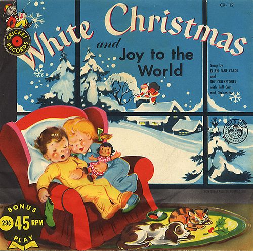 Vintage Christmas record cover
