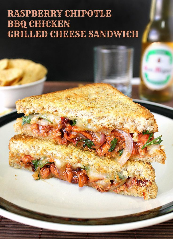 Raspberry Chipotle BBQ Chicken Grilled Cheese Sandwich.... Food ...